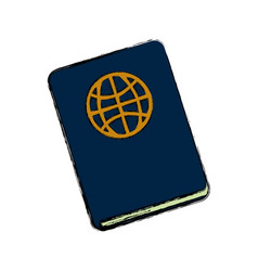 travel passport document vector image