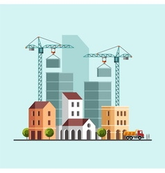 Under construction Building business vector image vector image