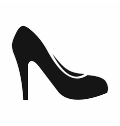 Women shoe with heels icon simple style vector