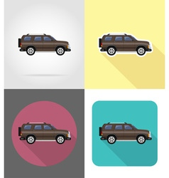 transport flat icons 49 vector image