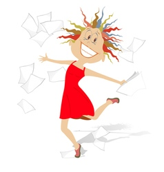 A lot of papers vector image
