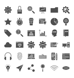 Web development solid icons vector