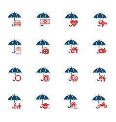Insurance icon set vector