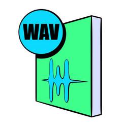 wav file icon cartoon vector image