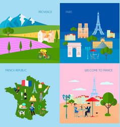 France concept icons set vector