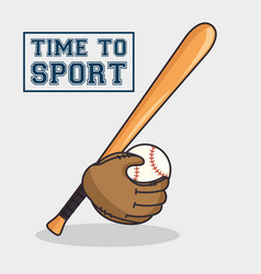 baseball sport isolated icon vector image