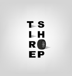 Tire shop logo vector