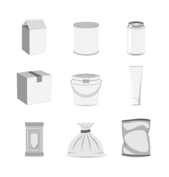 Pack container icon flat vector