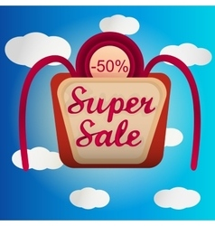 Super sale lable vector