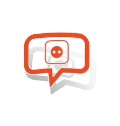 Socket message sticker orange vector