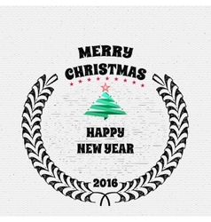 Merry christmas insignia and labels for any use vector