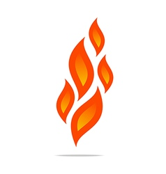 Logo flame fire design luxury logo design vector