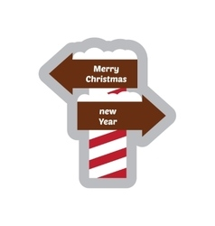 Flat icon with long shadow pointer christmas and vector