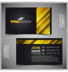 Set of creative business cards vector