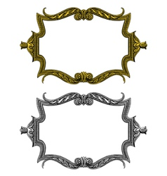 Vintage frame in engraved style vector
