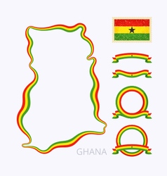 Colors of ghana vector