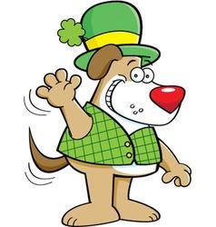 Cartoon dog wearing a derby vector