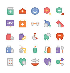 Health colored icons 3 vector