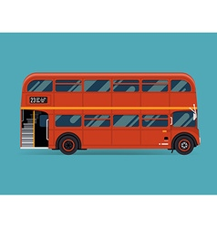 Double decker bus icon vector