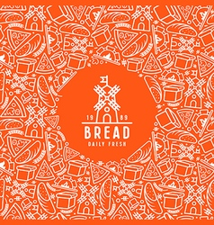 Stock bakery cover for package vector