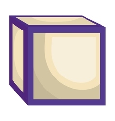 ABC block isolated flat icon vector image
