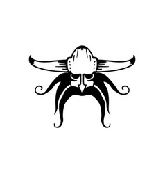 ancient viking head logo vector image