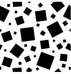 Black squares on white background vector