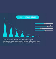 Business infpographic style graph collection vector