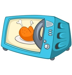 cartoon home kitchen microwave vector image