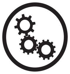 Cogwheel gear mechanism icon black white vector image