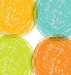 colorful hand drawn background vector image vector image