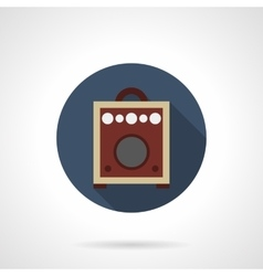 Combo amp round flat color icon vector