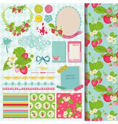 Design Elements - Strawberry vector image vector image