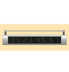 Electronic scoreboard vector