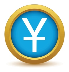Gold currency yen icon vector image
