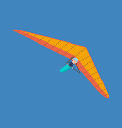 hang glider man hovering in air on this vehicle vector image vector image
