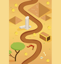 Isometric game desert map concept vector