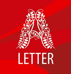 Logo letter a from plant patterns vector
