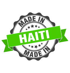 Made in haiti round seal vector