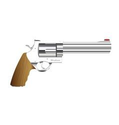 metal handgun vector image vector image