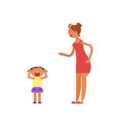 Mother shouting at child vector