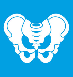 Pelvis icon white vector