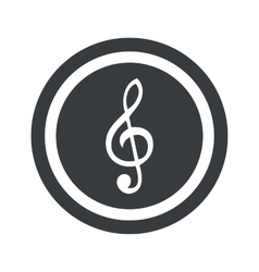Round black music sign vector