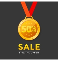 Sale with medal vector image vector image