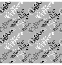 Seamless Pattern with Cups of Coffee vector image vector image