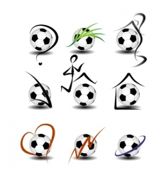 soccer football set vector image vector image
