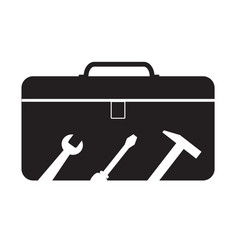 tools box icon on white background tools box vector image