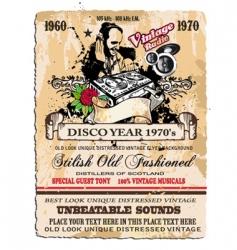 vintage disco flyer vector image