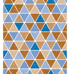 Vintage triangle tiles seamless pattern vector image vector image