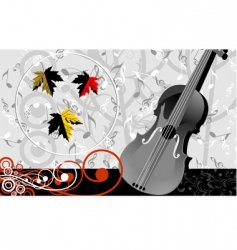 violin and music maple vector image vector image